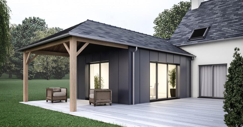 Gamme et mod le d 39 extensions maison chez cybel extension - Exemple agrandissement maison ...
