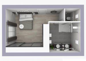 plan 3d d'une extension de maison