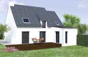 Vue 3D simple d'une extension de maison