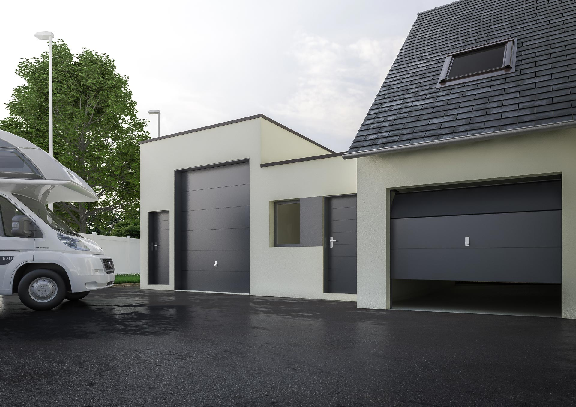 construction et isolation garage avec cybel extension. Black Bedroom Furniture Sets. Home Design Ideas