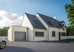 Extension garage double contemporain modèle SOFT