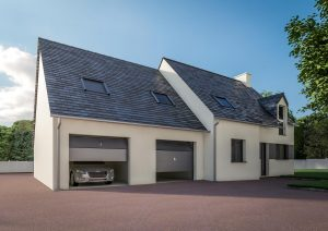 Extension garage double traditionnel modèle DOLCE