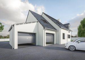 Extension garage double petit prix modèle DREAM 1