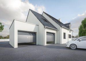 Extension garage toit plat petit prix modèle DREAM 4