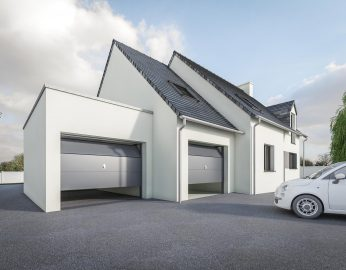 DREAM Garage Toit plat + ardoises