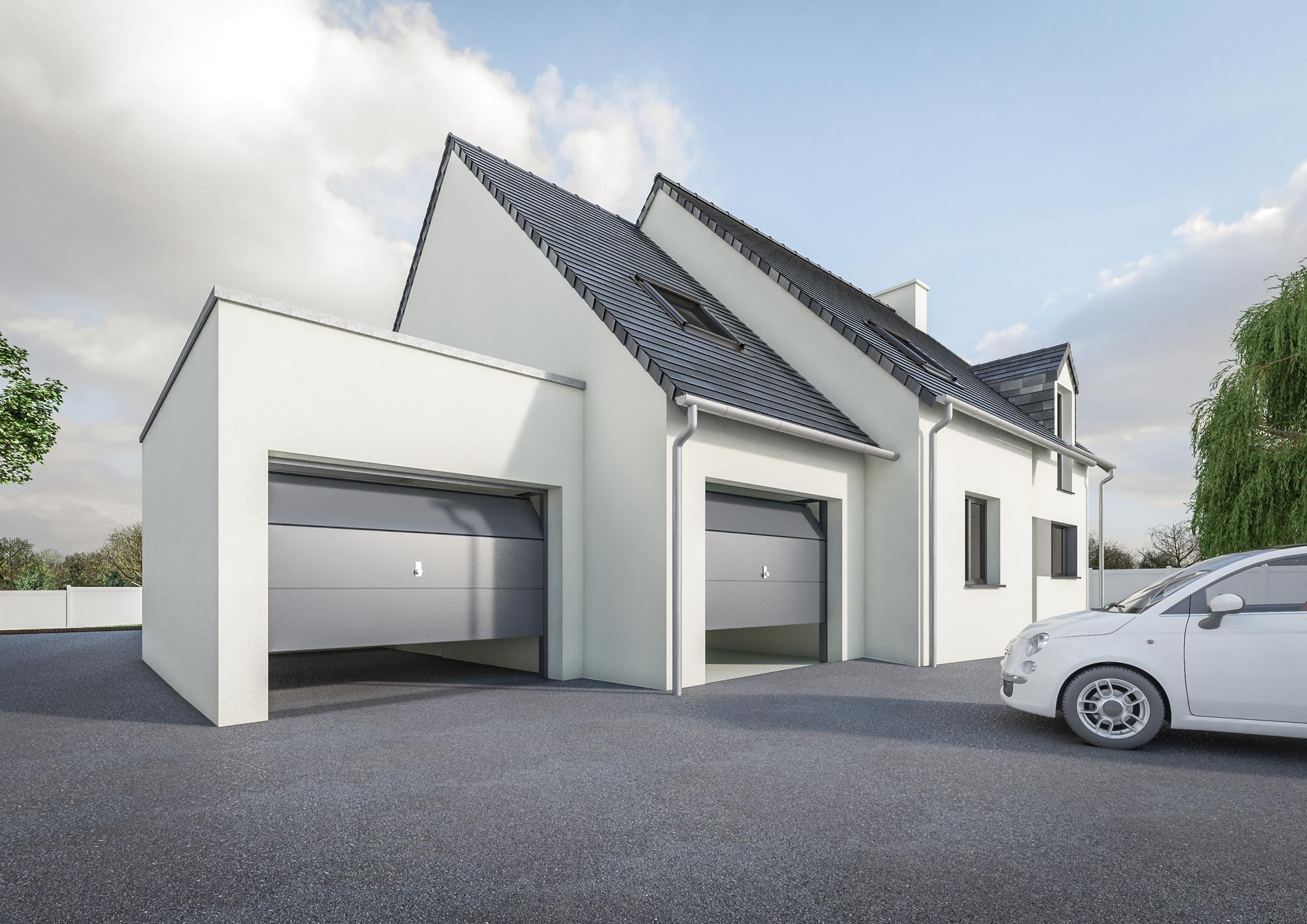 top gallery of extension garage toit plat petit prix modle