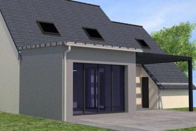 Extension de maison à La-Chapelle-des-Fgtz (35)