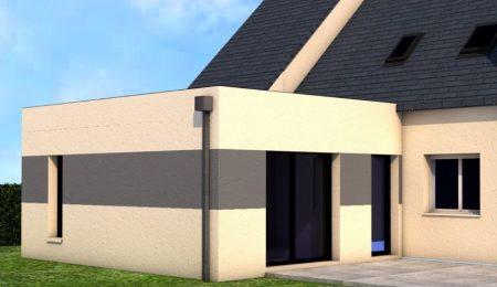 Extension maison toit plat vern sur seiche pour agrandir for Financement extension maison