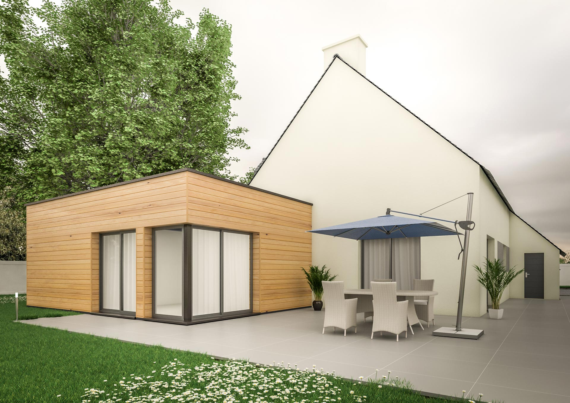 Extension Maison Cube Moderne Faade By Moon Design Build Extension Sur Jardin Avec Toiture