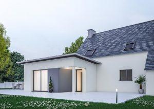 Extension maison contemporaine cube modele shine