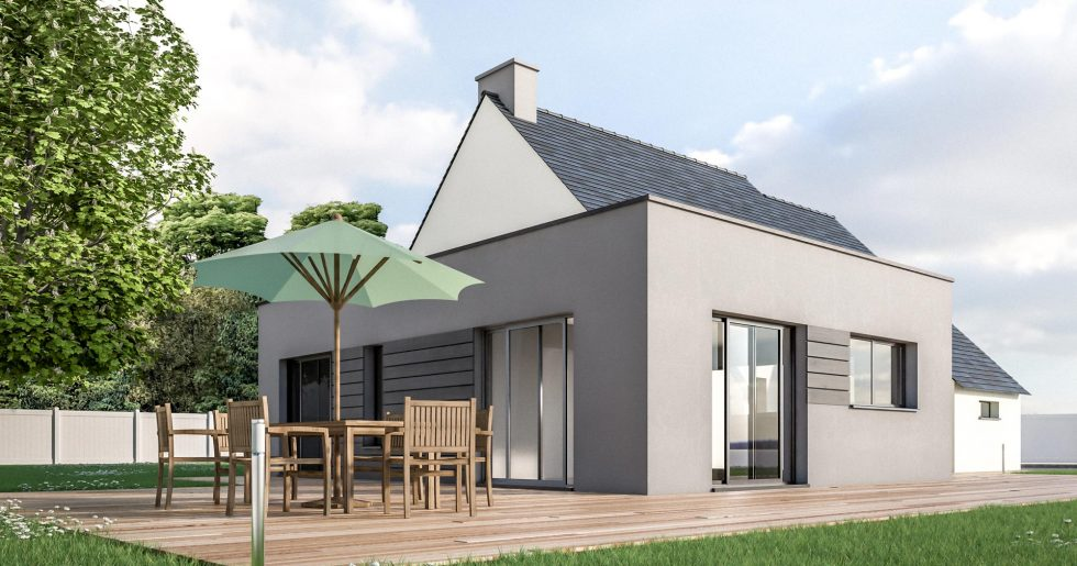 Extension maison toit plat
