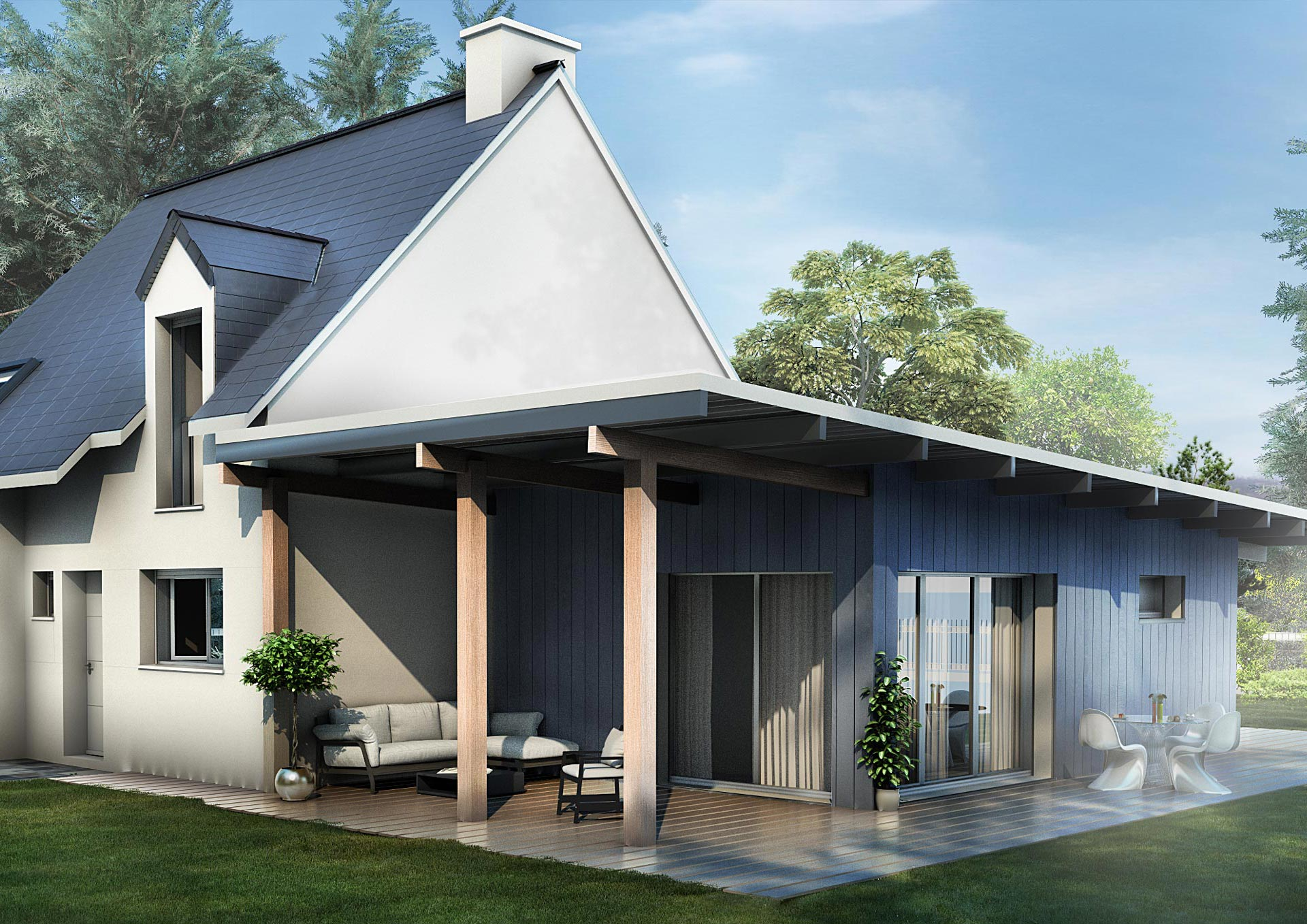 Extension design maison with extension design maison for Extension maison