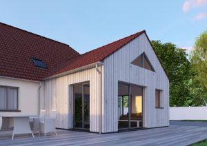 extension maison bois traditionnelle