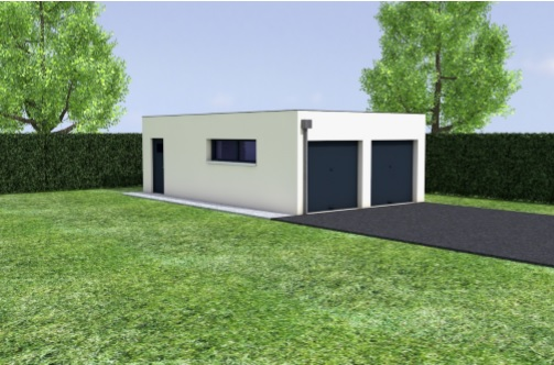Amazing Extension Garage Toit Plat Double Independant Pipriac With  Extension Garage Maison