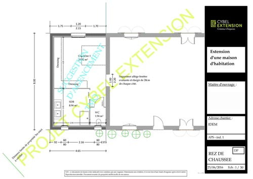 Extension de maison le cadre r glementaire et l gal de for Extension maison plan
