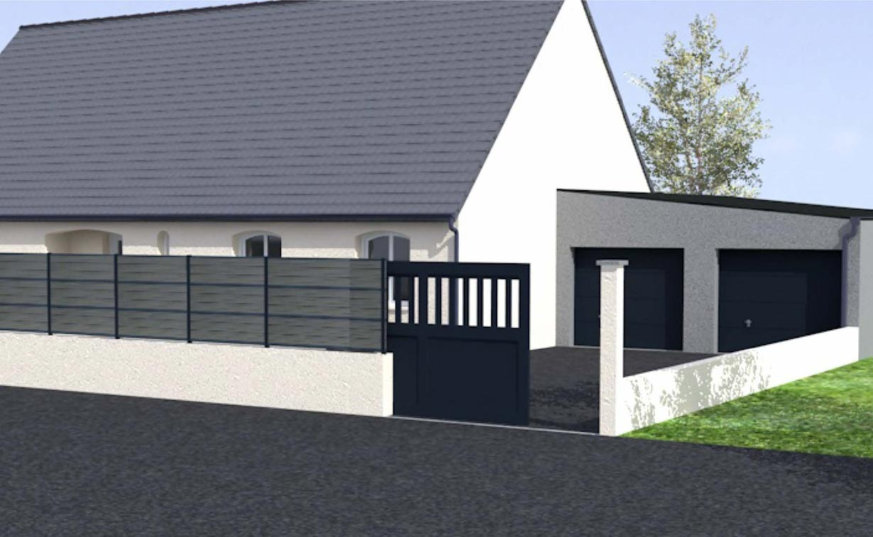 Extension de maison dans la marne cybel extension reims for Construction garage double