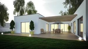 Extension avec terrasse et pergola
