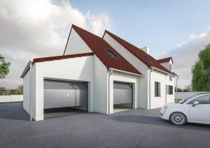 Agrandissement garage double petit prix modèle DREAM 1
