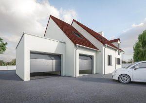 Agrandissement garage toit plat petit prix modèle DREAM 4