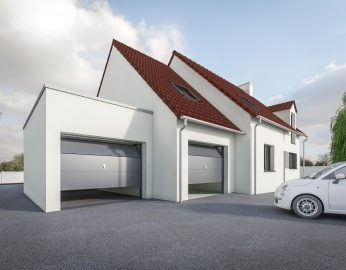 DREAM Garage Toit plat + tuiles