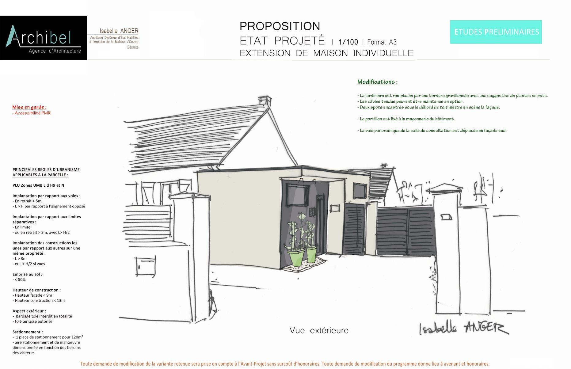 Extension maison en hauteur top maison toit plat charmant for Garage didier marseille