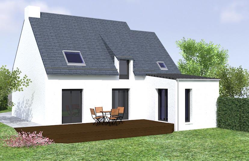 Extension maison vue 3d des plans de l 39 agrandissement maison for Projet 3d maison