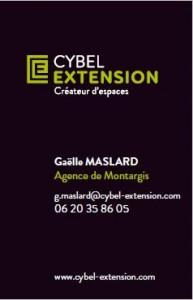 Carte visite Galle Maslard Montargis Loiret