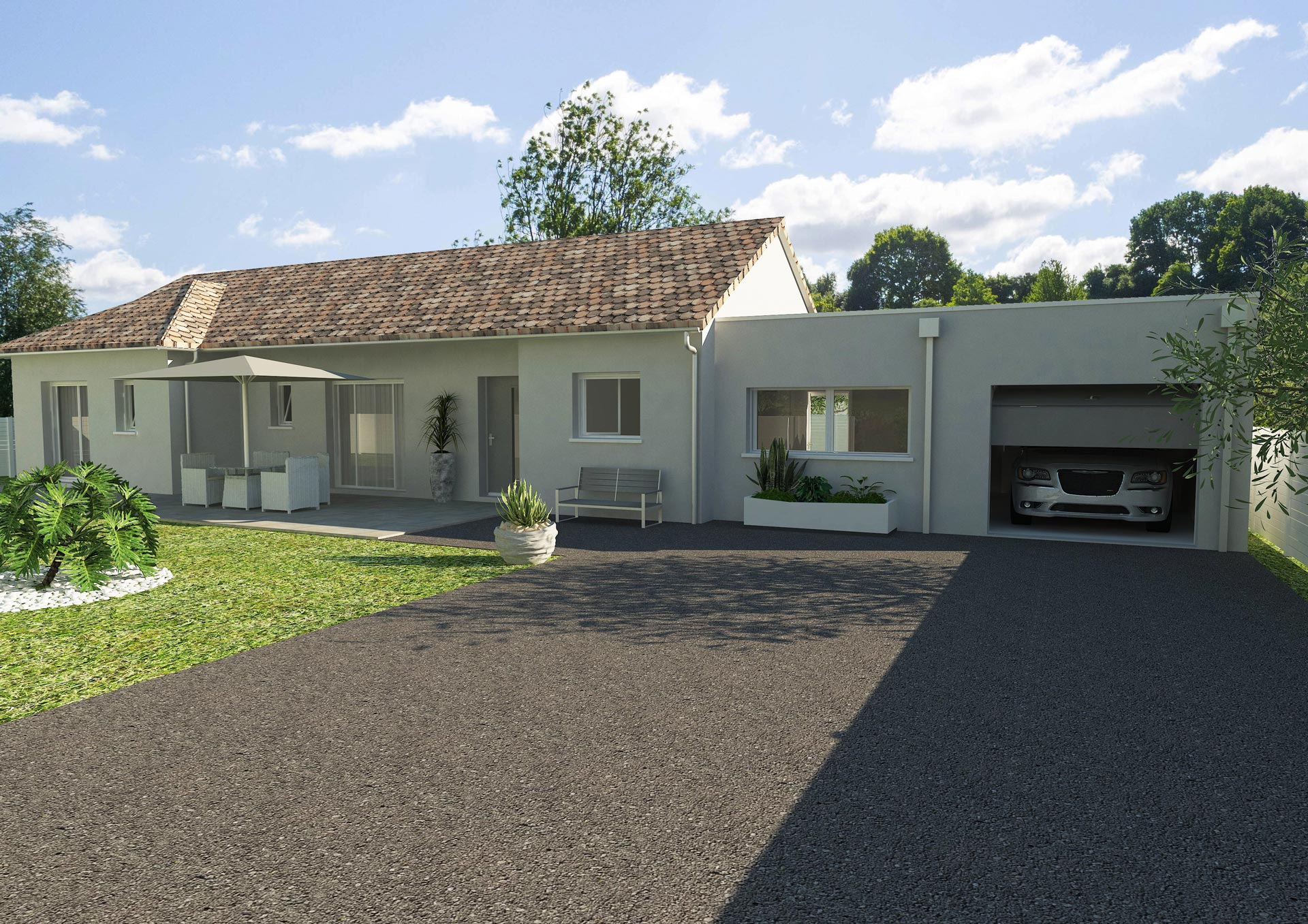 Construction Et Isolation Garage Avec Cybel Extension - Extension garage toit plat
