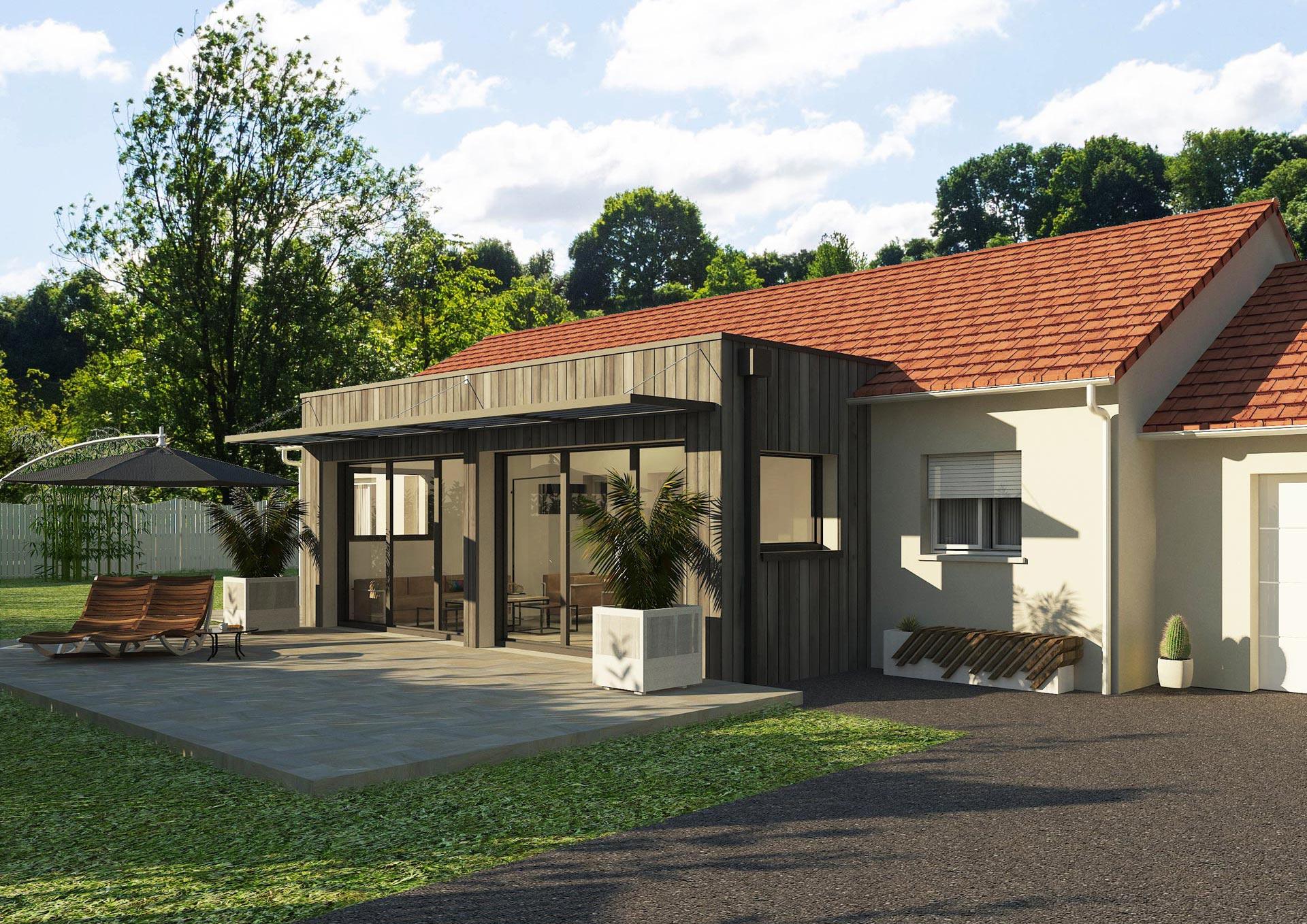 Agrandissement maison design sur-mesure LOTUS