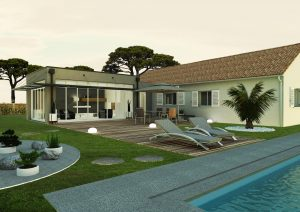 Agrandissement maison design piscine poolhouse URBAN