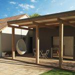 Extension de maison design cube préau