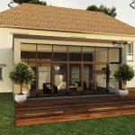 Agrandissement maison design véranda