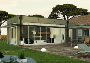 Agrandissement de maison design sur-mesure en verre : modèle URBAN
