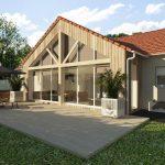 Agrandissement maison traditionnelle avec extension bois et vitrée