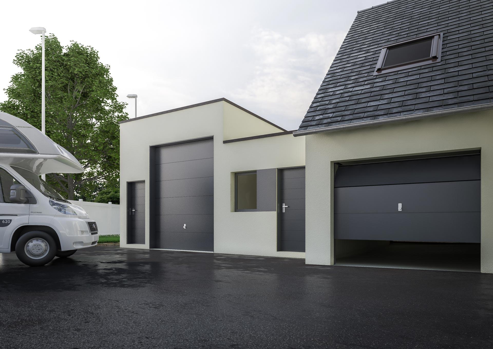 Extension garage maison extension de garage en bois with for Prix extension garage
