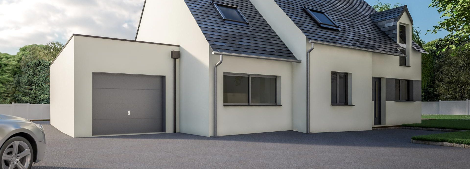 Une Extension De Garage Avec Toit Plat Cybel Extension - Extension garage toit plat