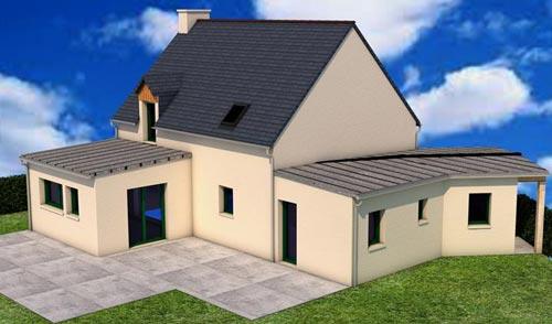 Cybel extension maison chantier chateauneuf ille et vilaine 35