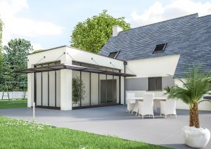 Extension maison design veranda