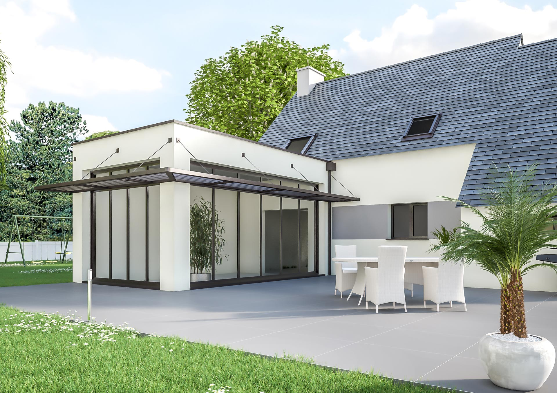 extension de maison design pour agrandir sa maison. Black Bedroom Furniture Sets. Home Design Ideas