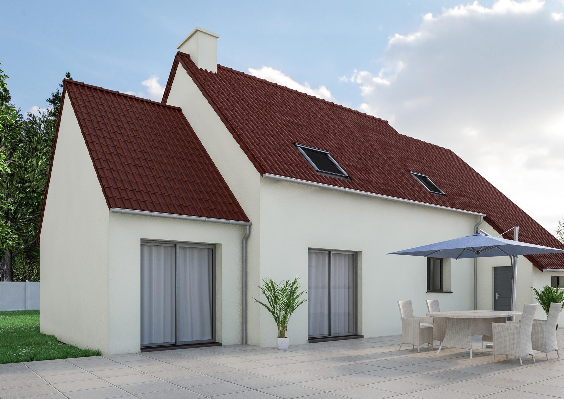 Extension maison petit prix 2 pente tuiles dream 2 cybel for Maison petit prix