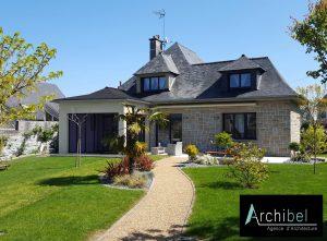 Maison avec projet d'extension et agrandissement par un architecte
