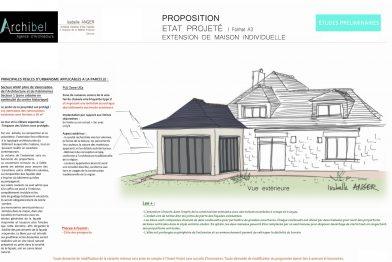 plan d'extension et d'agrandissement de maison par un architecte