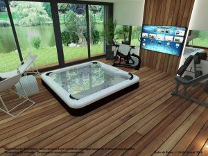 extension maison piscine spa image 3d