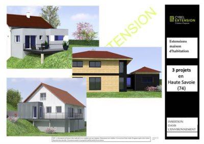 Projets d'extension et agrandissement de maison en Haute Savoie (74)