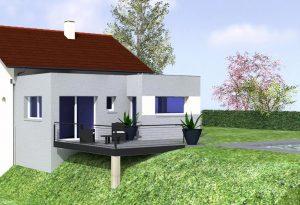 vue 3D agrandissement maison en Haute Savoie