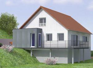 vue 3D extension maison en Haute Savoie