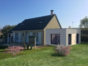 extension maison clos couvert Tourlaville 50110
