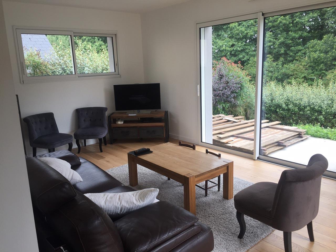 Extension de maison pour un salon de 35 m vitr en ille for Extension maison 35