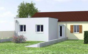 extension maison toit plat cube 51400