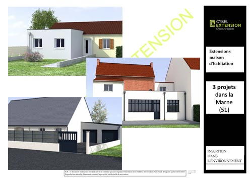 Projets extension de maison dans la marne 51 cybel for 51000 reims